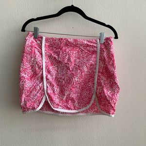 Lilly Pulitzer Pink and White Patty Skort Size 4